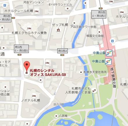 札幌のやさしい税理士事務所の地図