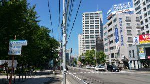 中島公園駅1番出口を左折した時の風景